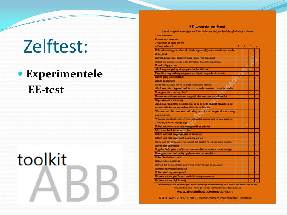 Zelftest: Experimentele EE-test Uit de praktijk!