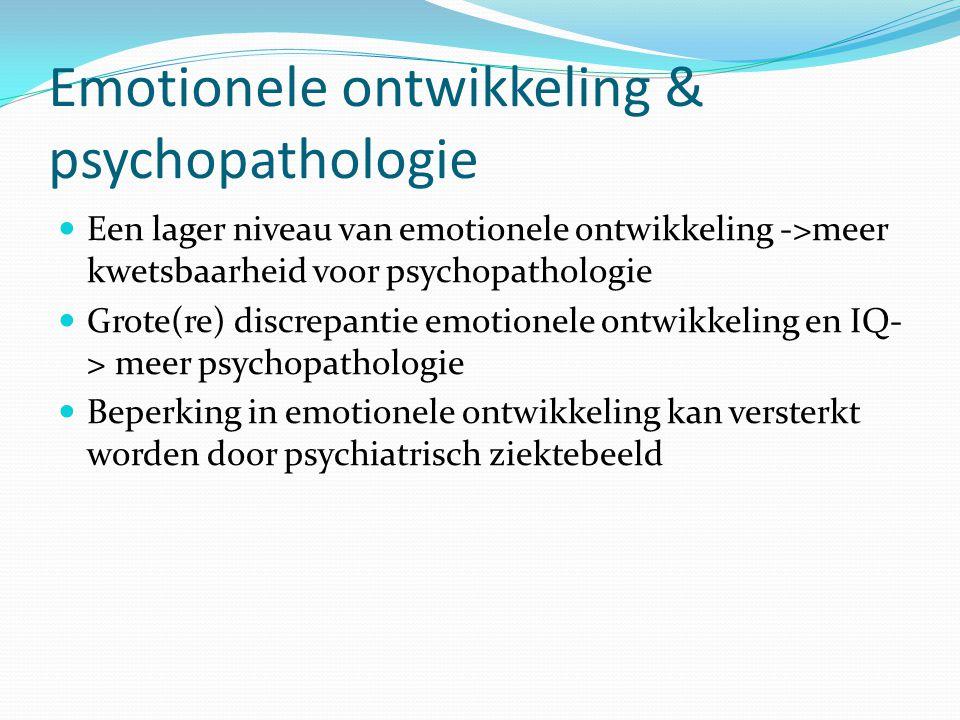 Emotionele ontwikkeling & psychopathologie
