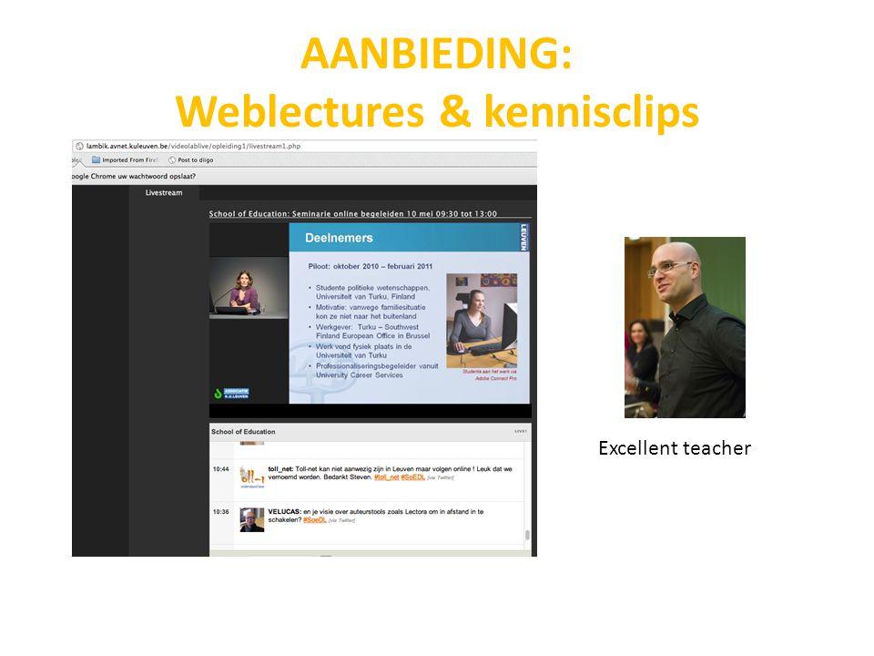 AANBIEDING: Weblectures & kennisclips