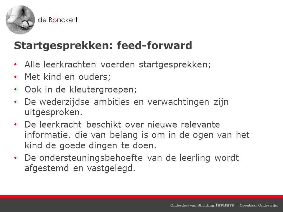 Startgesprekken: feed-forward