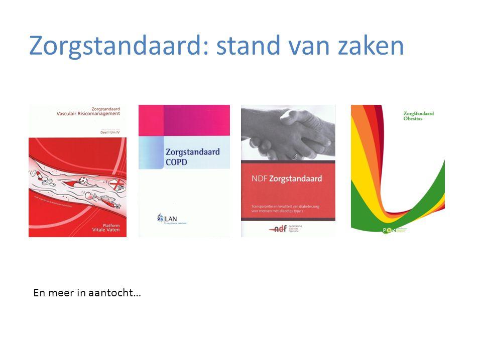 Zorgstandaard: stand van zaken