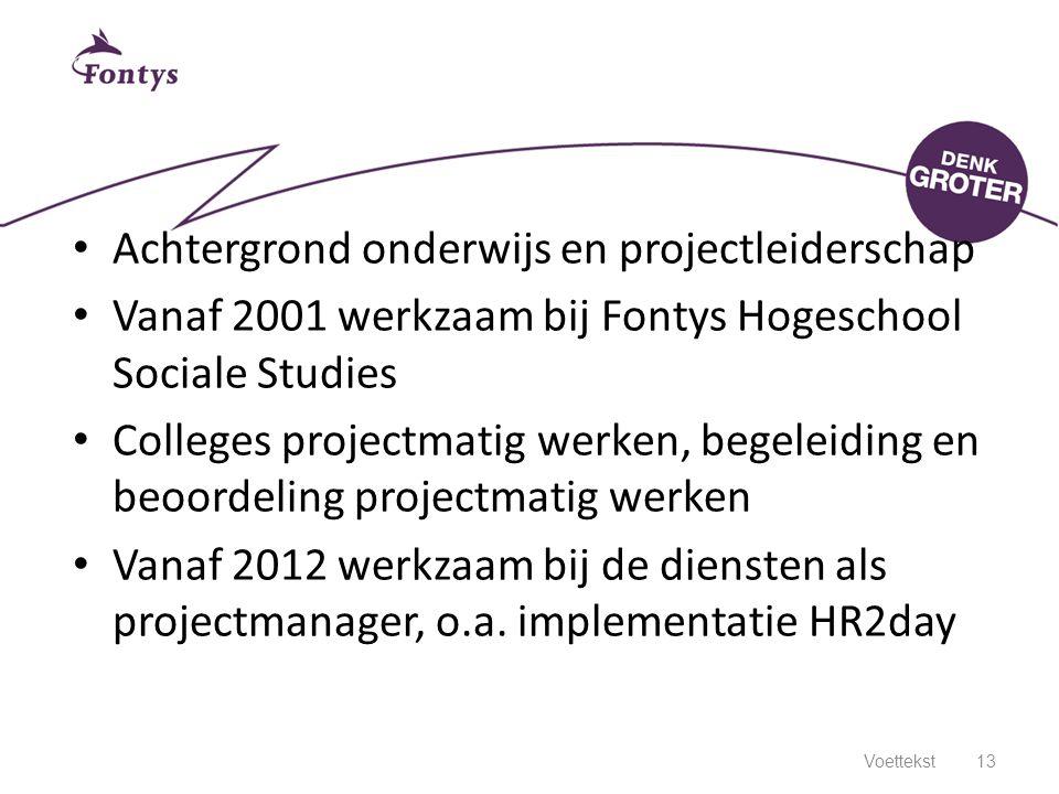Achtergrond onderwijs en projectleiderschap