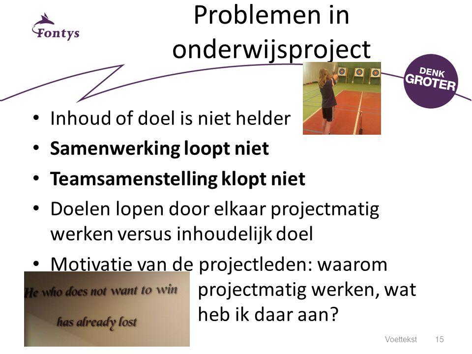 Problemen in onderwijsproject