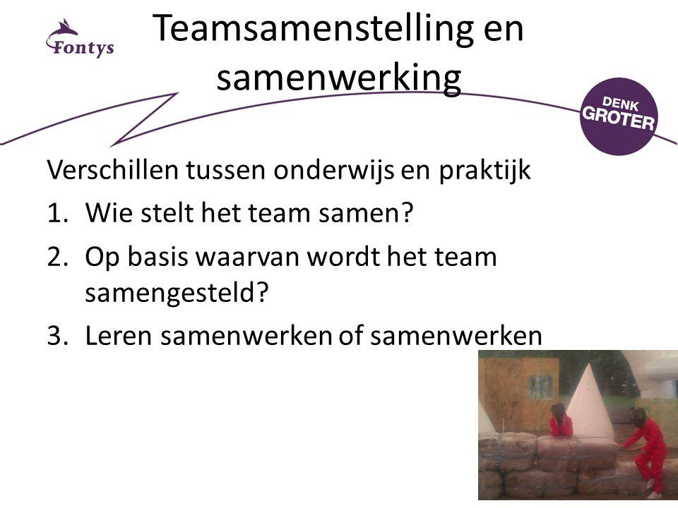 Teamsamenstelling en samenwerking