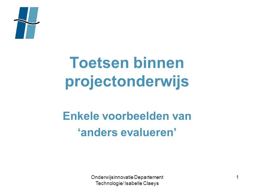 Toetsen binnen projectonderwijs