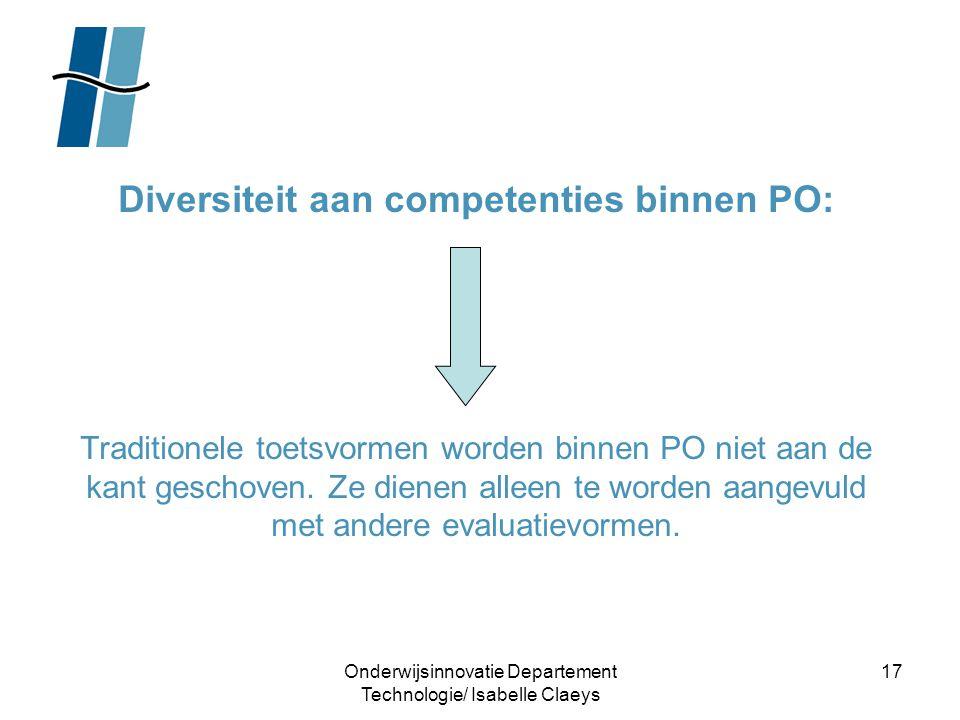 Diversiteit aan competenties binnen PO:
