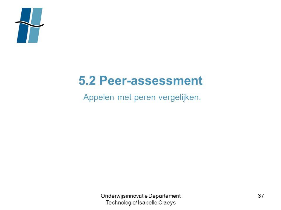 5.2 Peer-assessment Appelen met peren vergelijken.