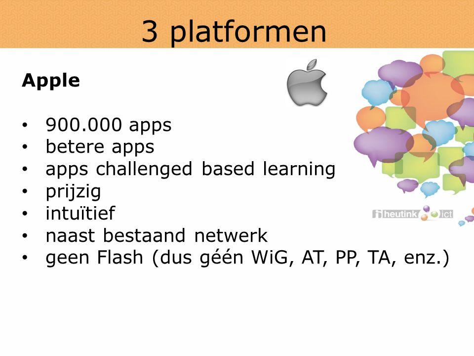 3 platformen Apple 900.000 apps betere apps