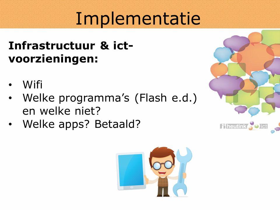 Implementatie Infrastructuur & ict-voorzieningen: Wifi