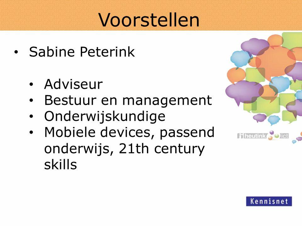 Voorstellen Sabine Peterink Adviseur Bestuur en management