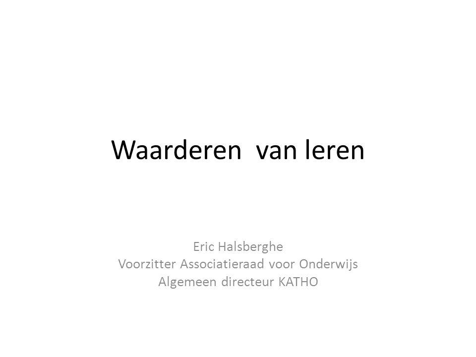 Waarderen van leren Eric Halsberghe