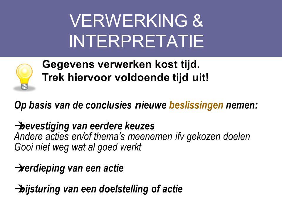 VERWERKING & INTERPRETATIE