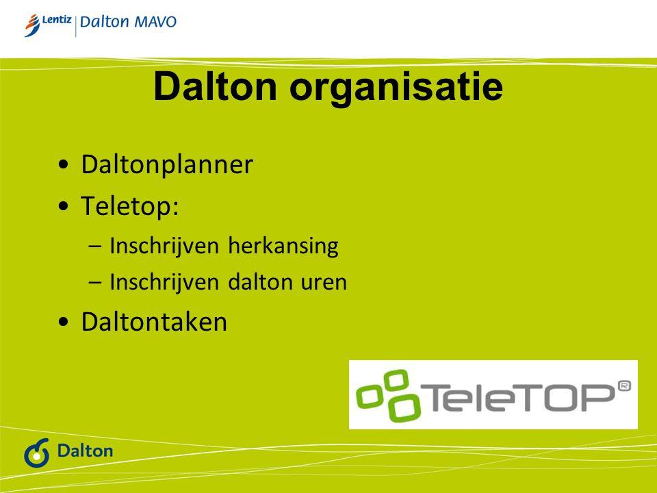 Dalton organisatie Daltonplanner Teletop: Daltontaken