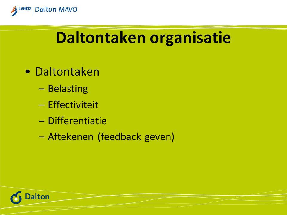 Daltontaken organisatie