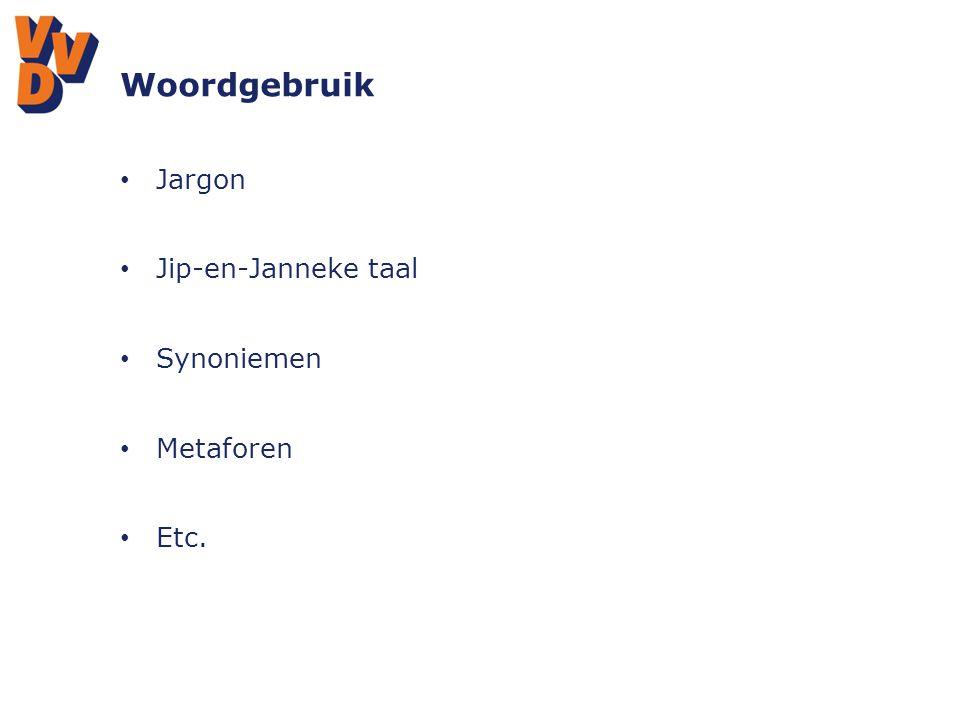 Woordgebruik Jargon Jip-en-Janneke taal Synoniemen Metaforen Etc.