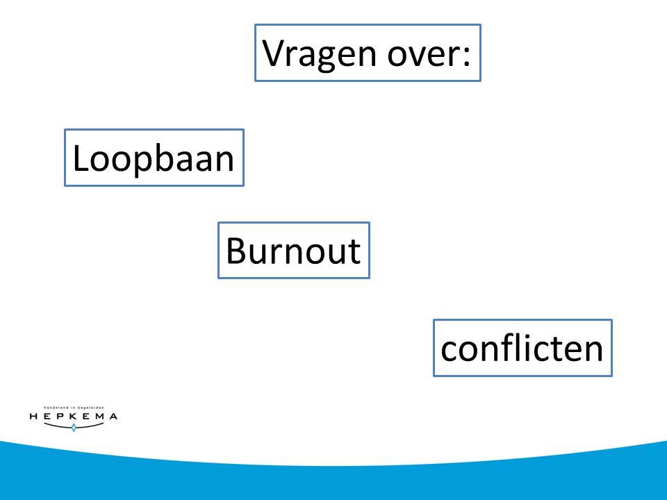 Vragen over: Loopbaan Burnout conflicten