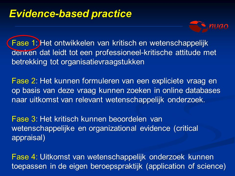 Evidence-based practice