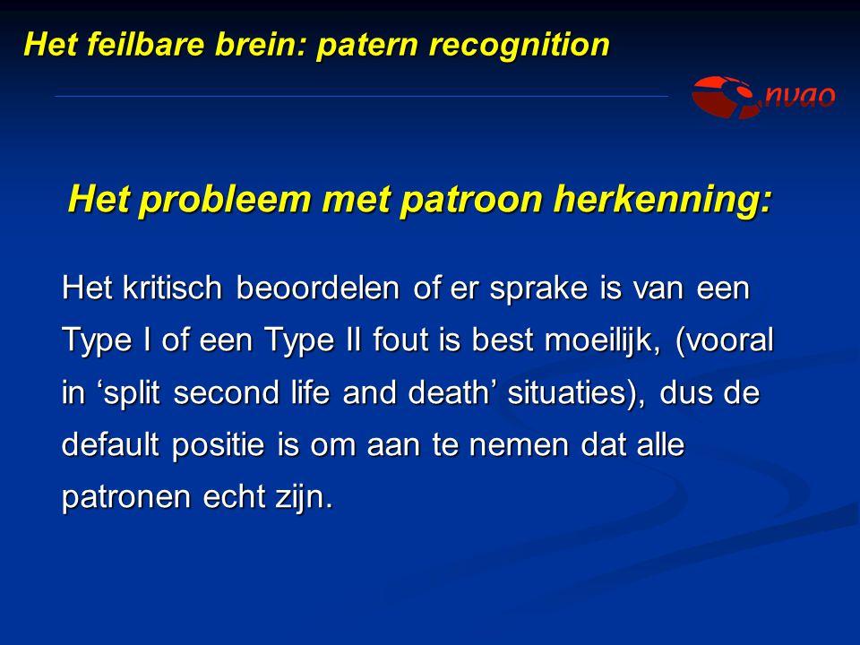 Het probleem met patroon herkenning: