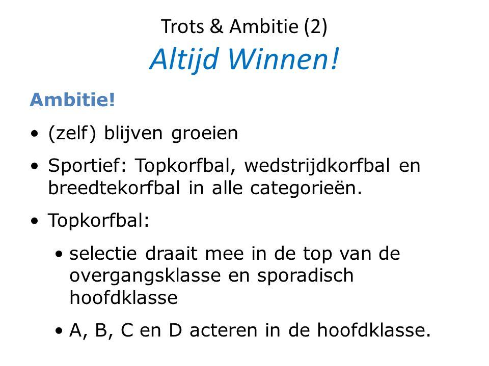 Trots & Ambitie (2) Altijd Winnen!