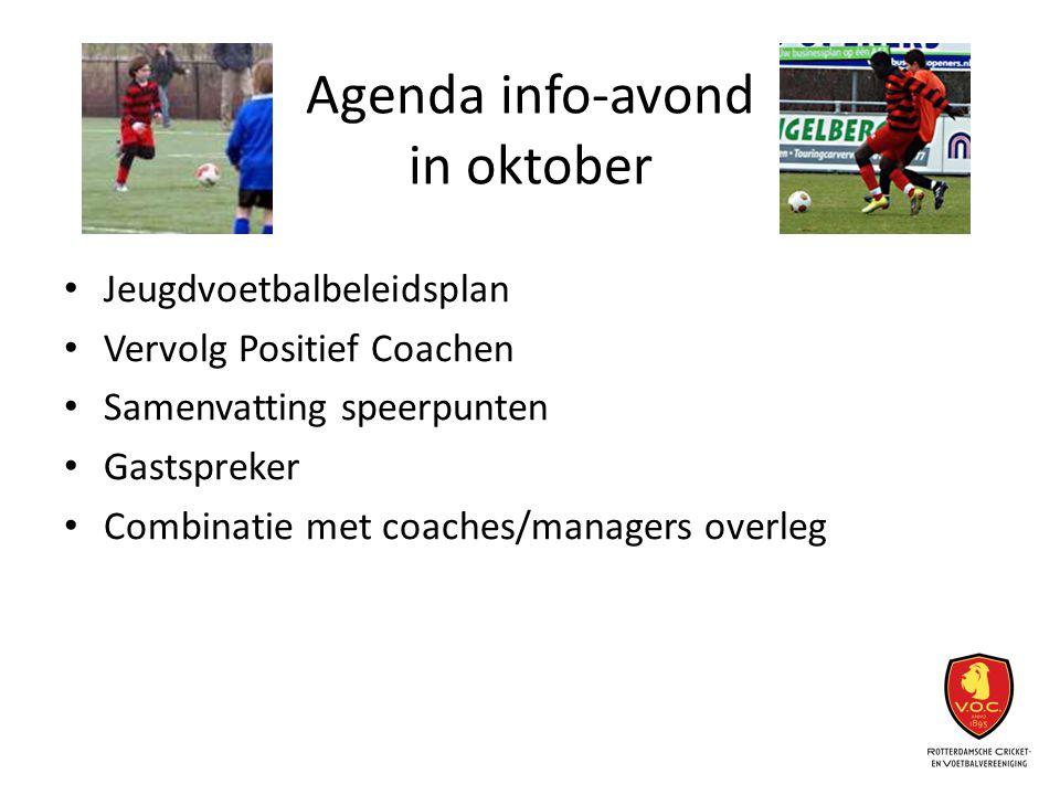 Agenda info-avond in oktober