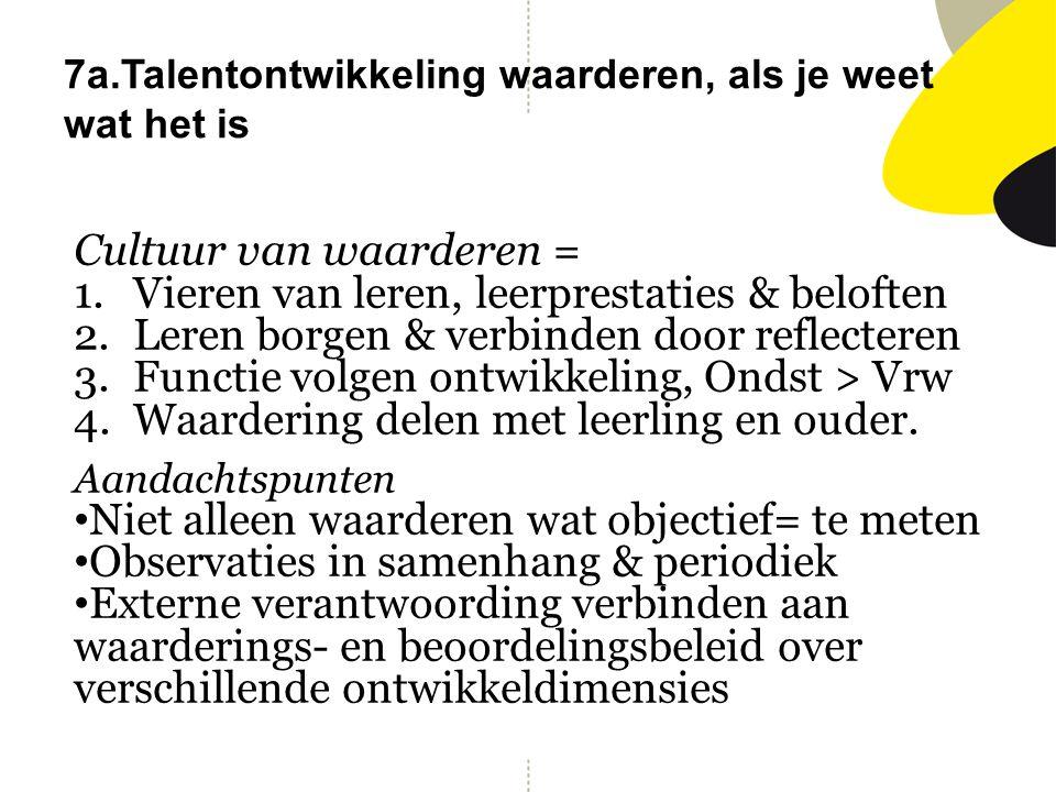 7a.Talentontwikkeling waarderen, als je weet wat het is