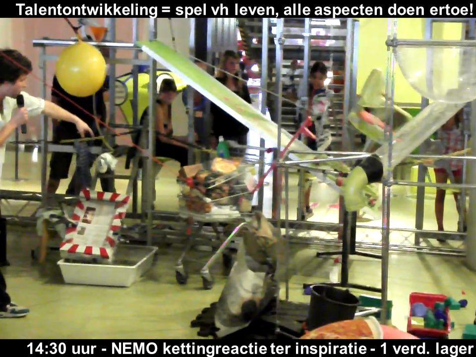 14:30 uur - NEMO kettingreactie ter inspiratie - 1 verd. lager