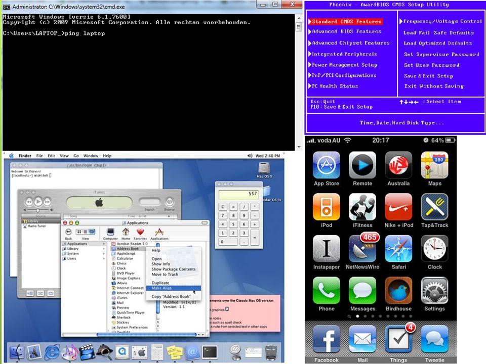 Functie van een UI De besturing van een machine voor de mens mogelijk maken. voorbeelden: Grafische gebruikersinterface (GUI)
