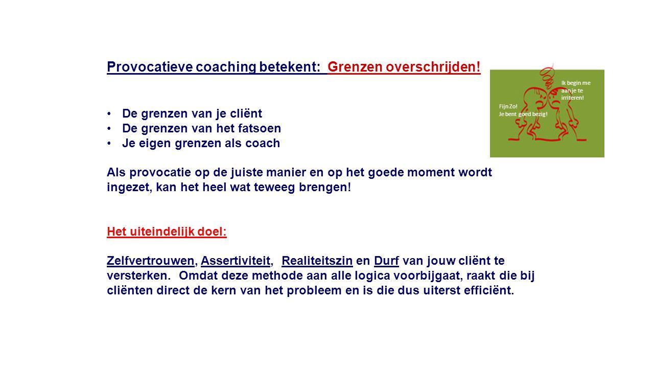 Provocatieve coaching betekent: Grenzen overschrijden!