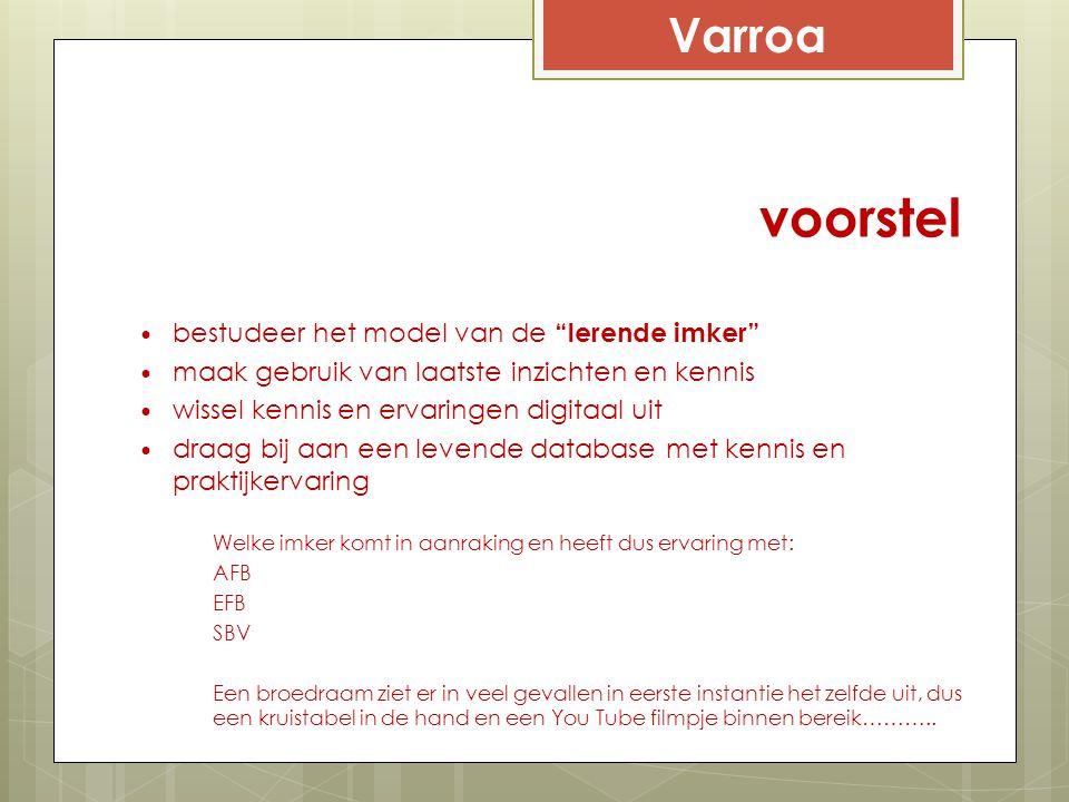 voorstel Varroa bestudeer het model van de lerende imker