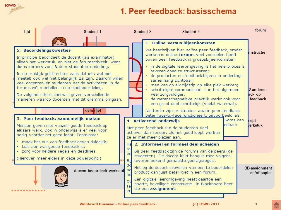 1. Peer feedback: basisschema
