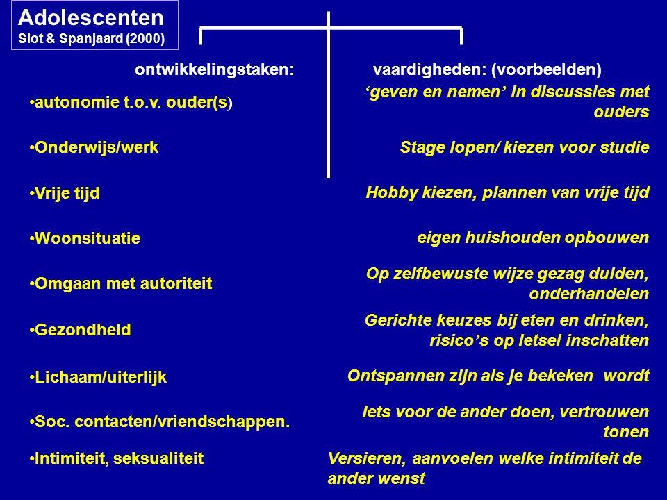 AdolescentenSlot & Spanjaard (2000)