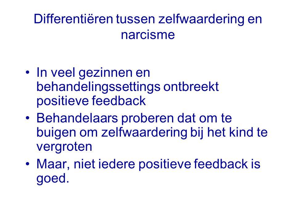Differentiëren tussen zelfwaardering en narcisme