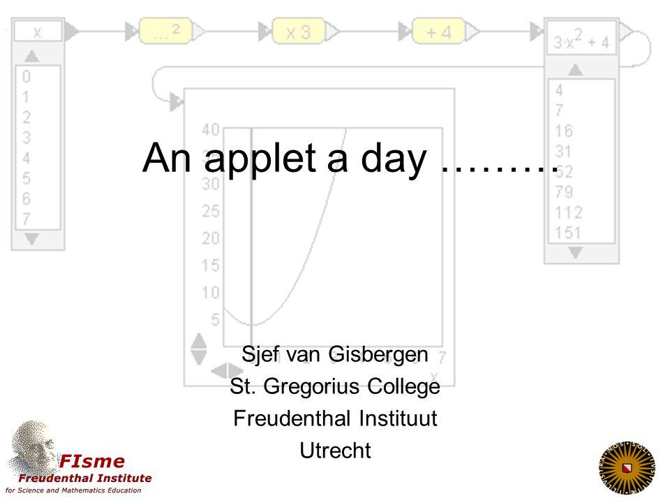 Sjef van Gisbergen St. Gregorius College Freudenthal Instituut Utrecht