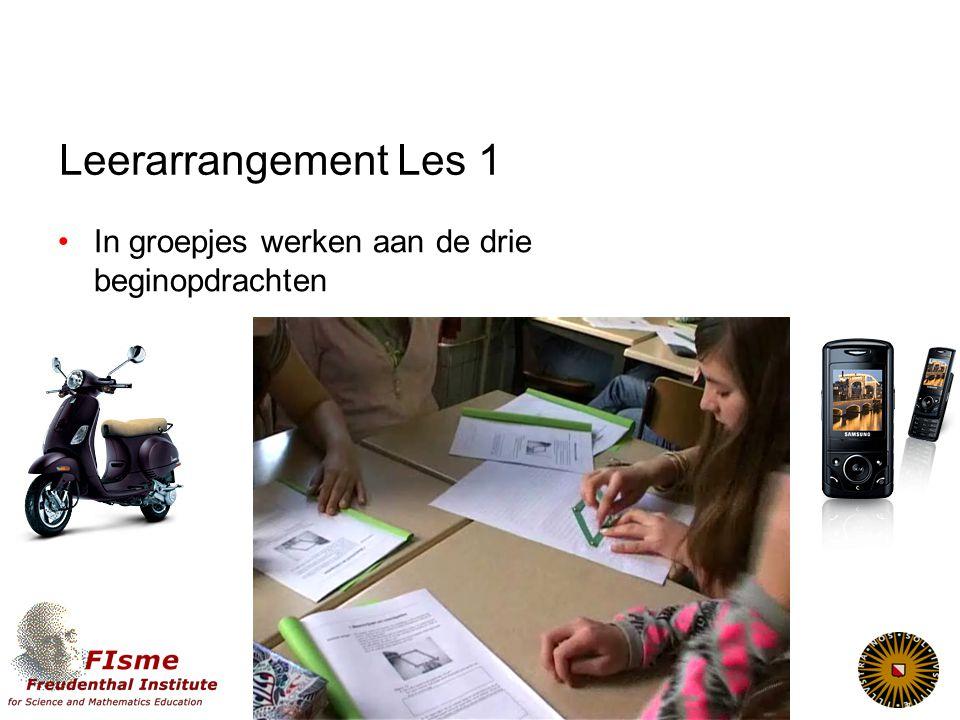Leerarrangement Les 1 In groepjes werken aan de drie beginopdrachten