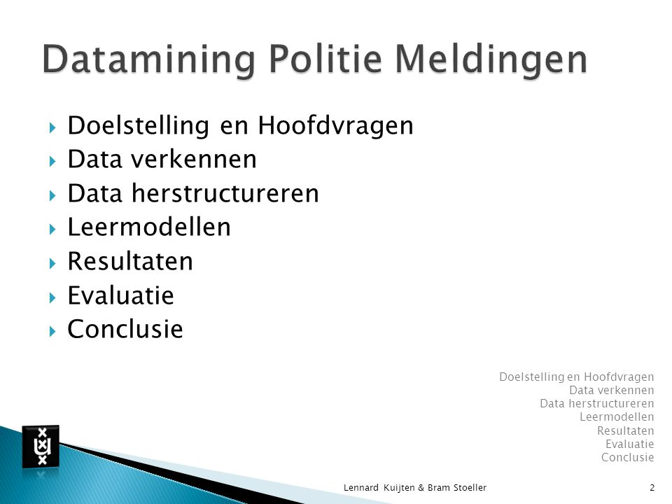 Datamining Politie Meldingen