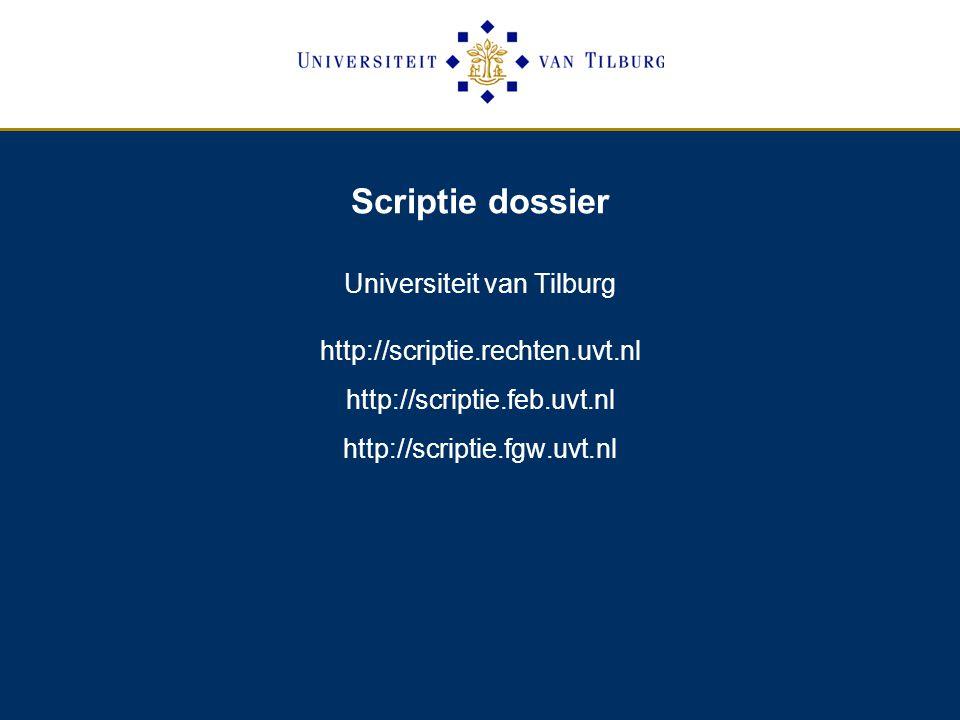 Universiteit van Tilburg http://scriptie.rechten.uvt.nl
