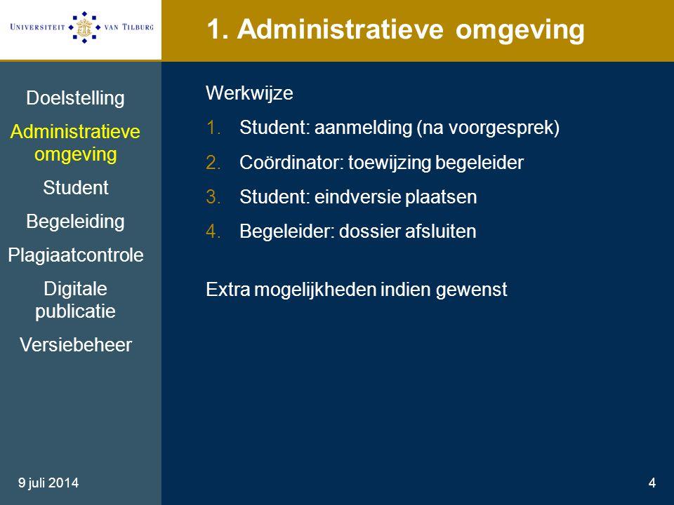 1. Administratieve omgeving