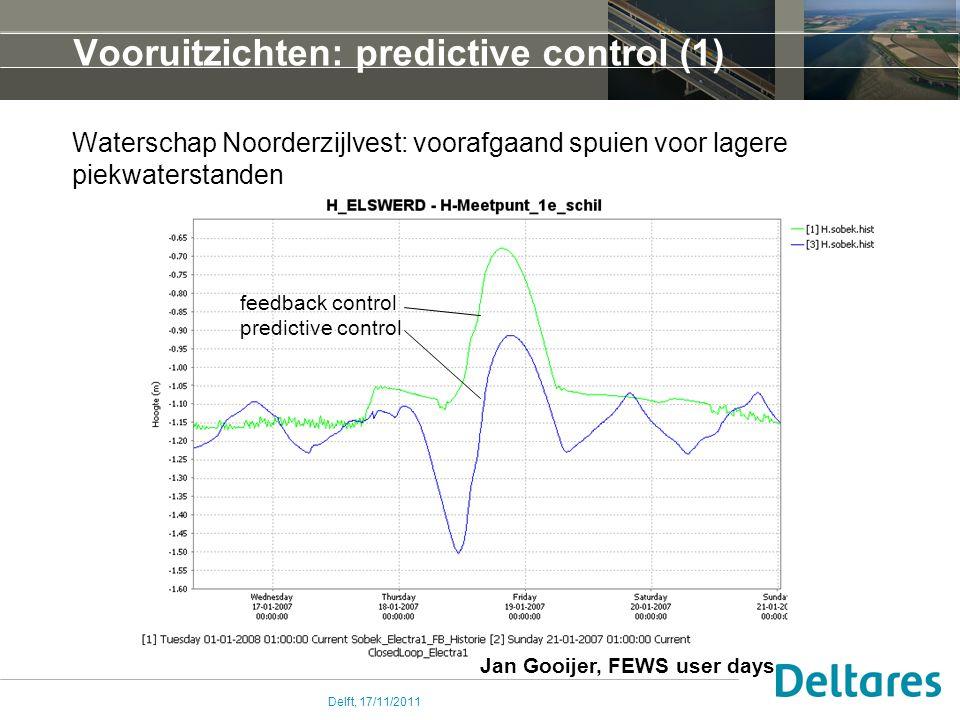 Vooruitzichten: predictive control (1)