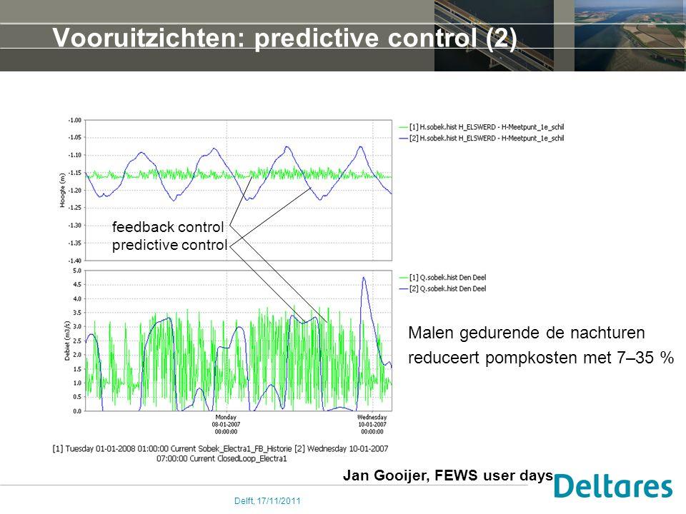 Vooruitzichten: predictive control (2)