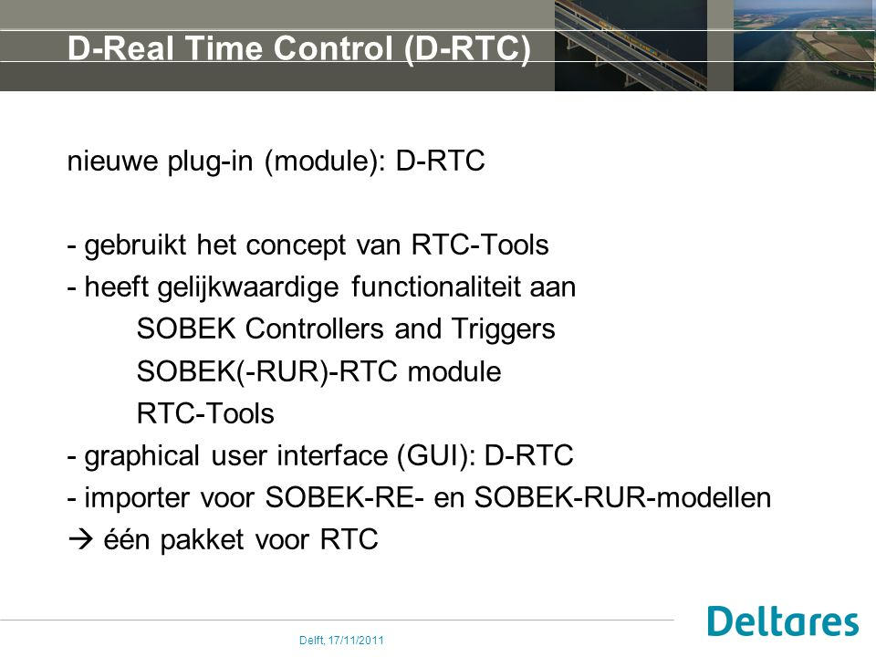 D-Real Time Control (D-RTC)