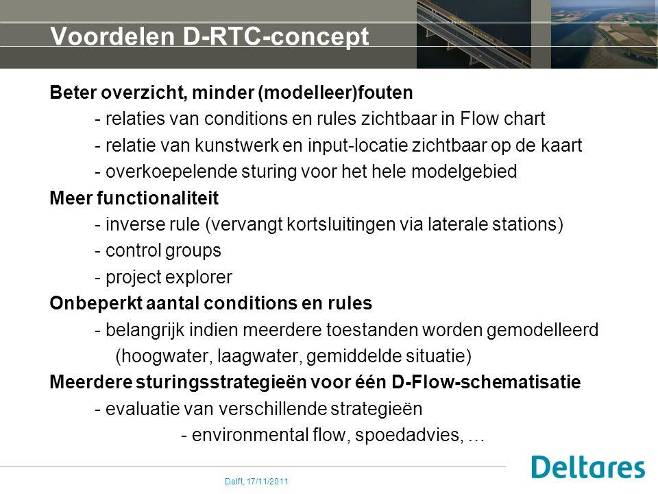 Voordelen D-RTC-concept