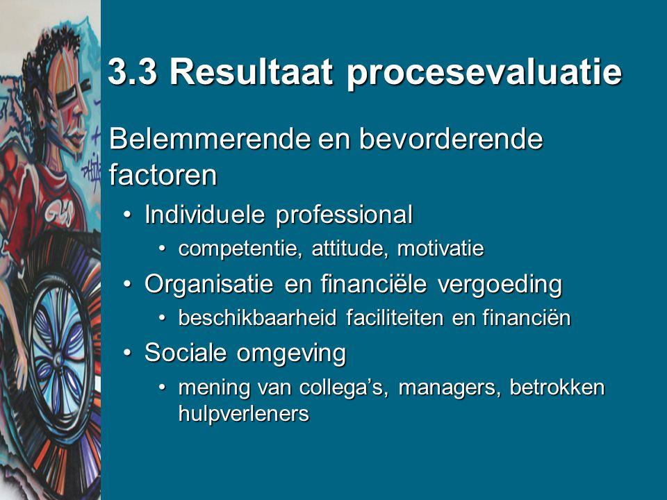 3.3 Resultaat procesevaluatie