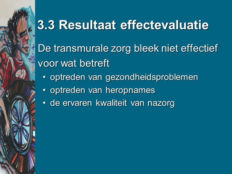 3.3 Resultaat effectevaluatie