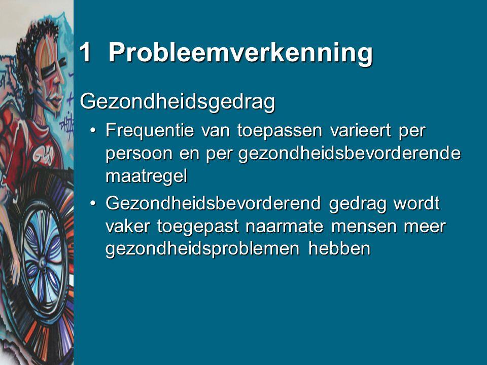 1 Probleemverkenning Gezondheidsgedrag