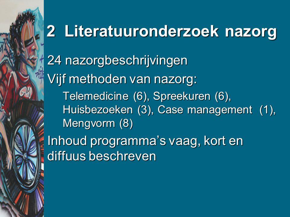 2 Literatuuronderzoek nazorg
