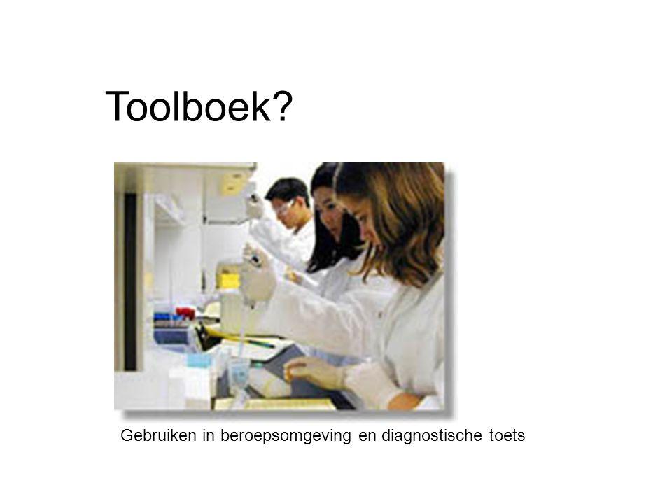 Toolboek Gebruiken in beroepsomgeving en diagnostische toets
