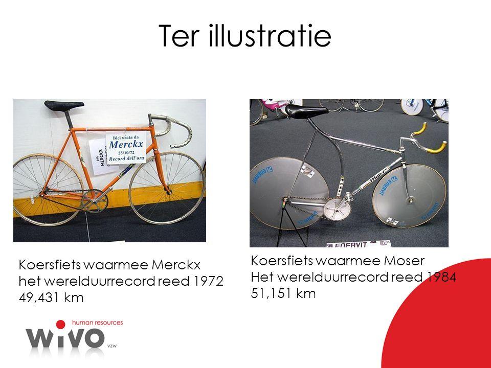 Ter illustratie Koersfiets waarmee Moser Koersfiets waarmee Merckx