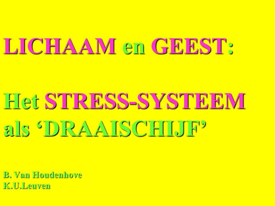 LICHAAM en GEEST: Het STRESS-SYSTEEM als 'DRAAISCHIJF' B