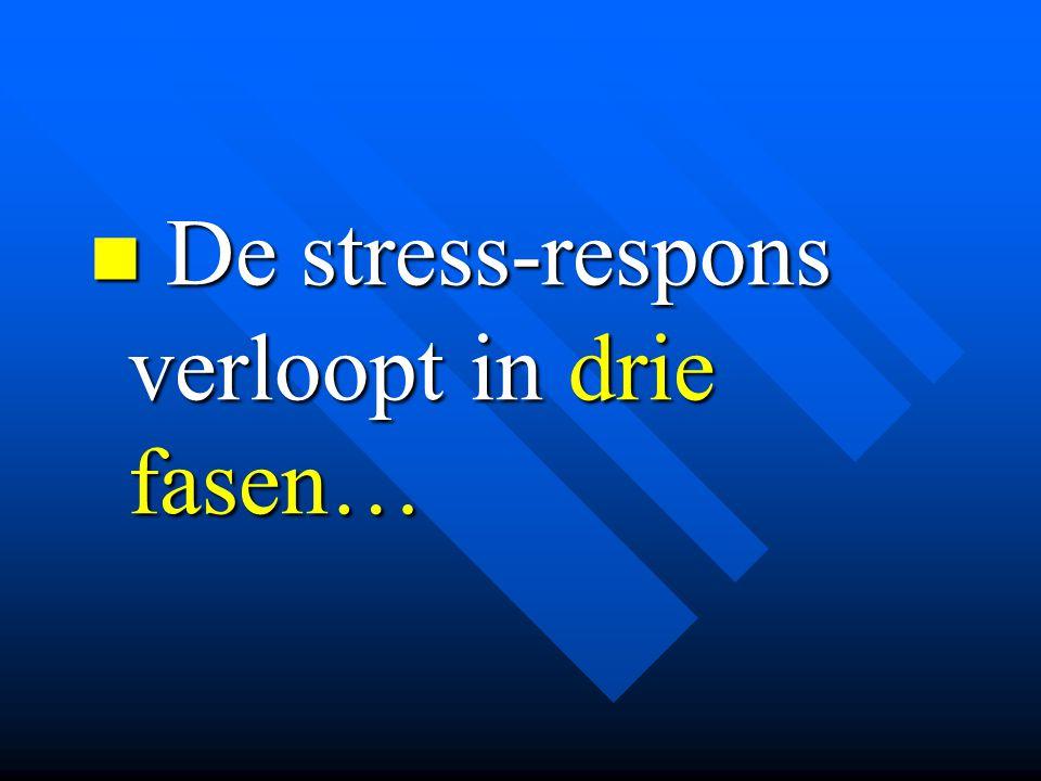 De stress-respons verloopt in drie fasen…