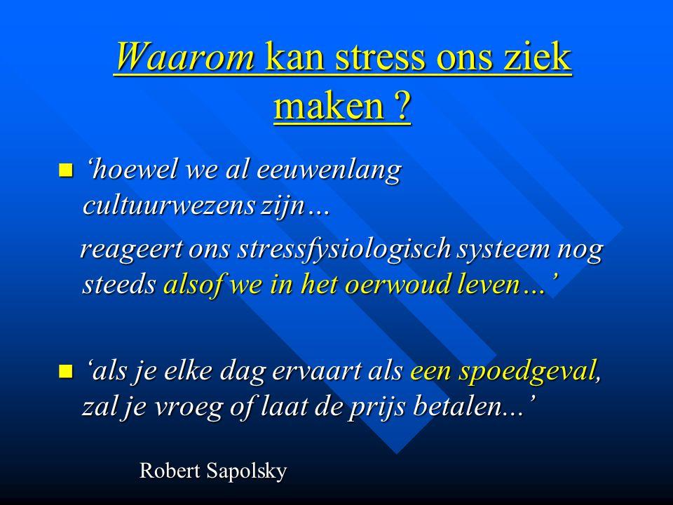 Waarom kan stress ons ziek maken